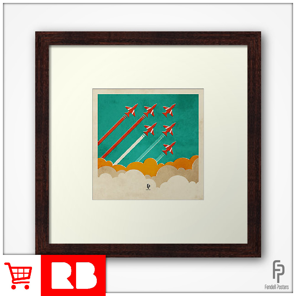 Red Arrows - Square Framed Print