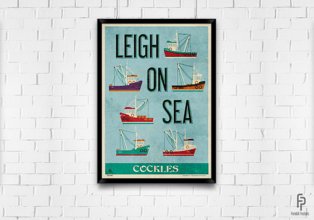 Leigh-on-Sea - Leigh Cockles - A2 Framed