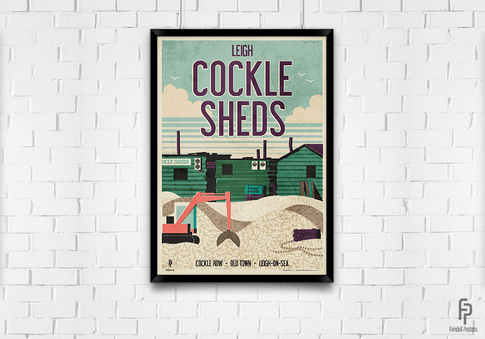 Leigh - Cockle Sheds - A2 Framed