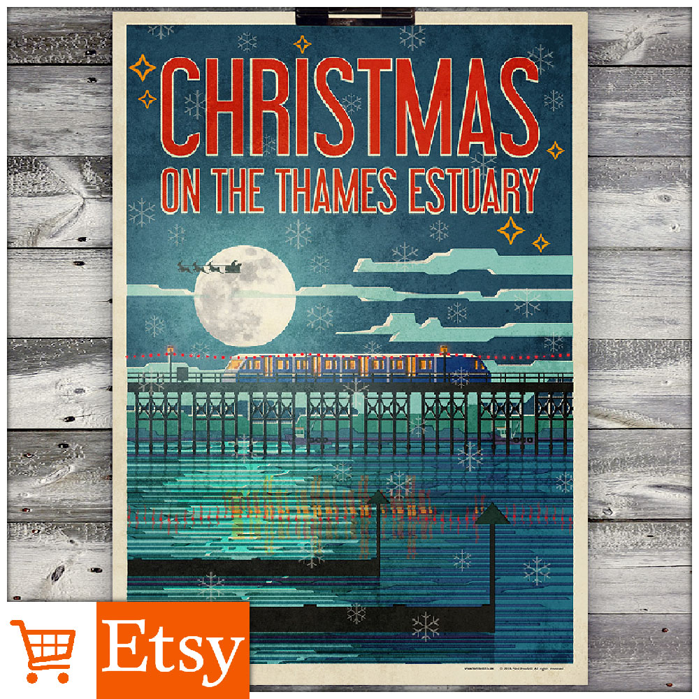 Christmas on the Thames Estuary - A2 & A4 Posters