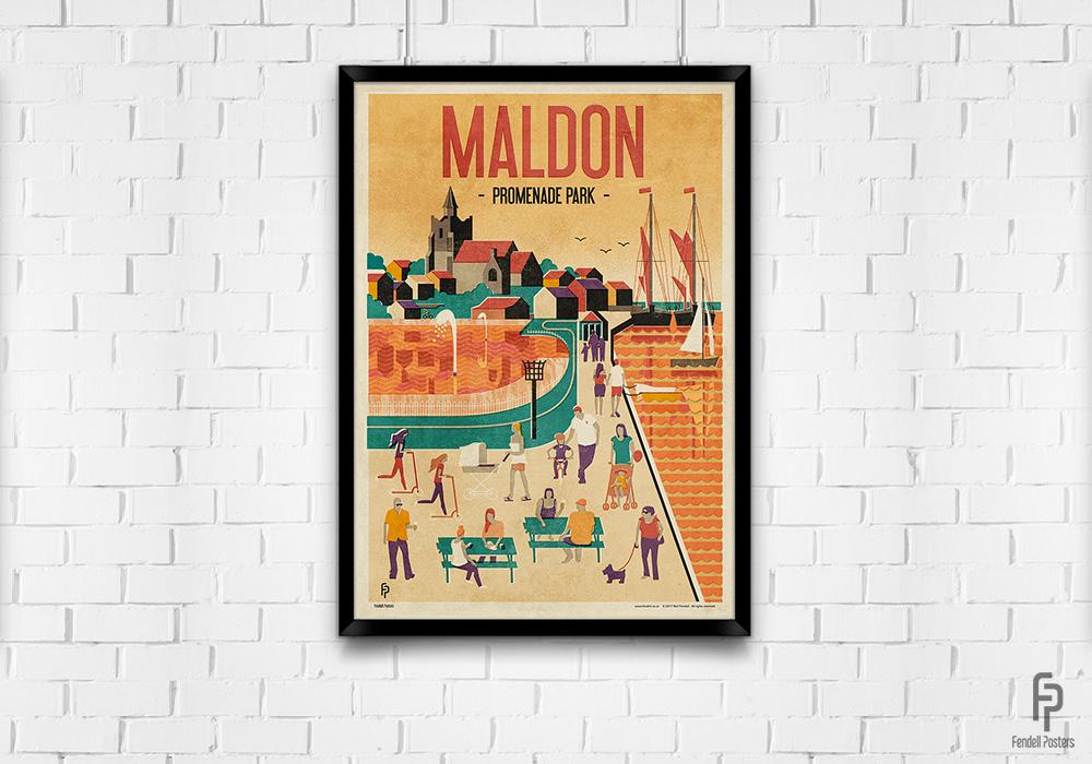 Maldon - Promenade Park - A2 Framed