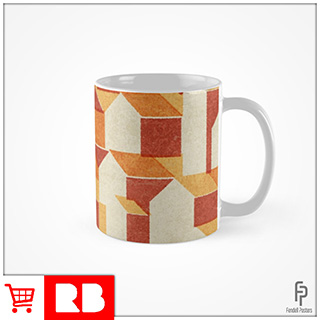 Little Houses Pattern - Mug