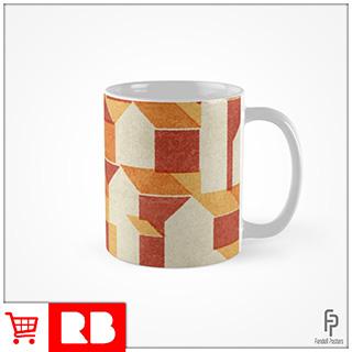 Little Houses Pattern - Mug