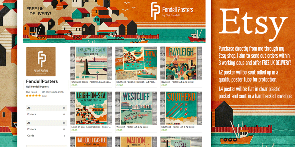 Fendell Posters Etsy Shop