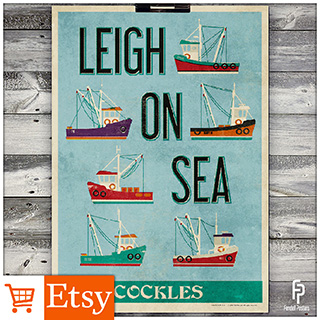 Leigh-on-Sea Fishing Trawler - A2 & A4 Posters