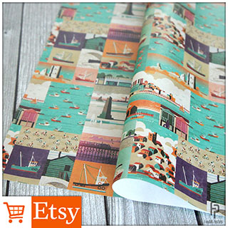 Southend Poster Collage - Wrapping Paper