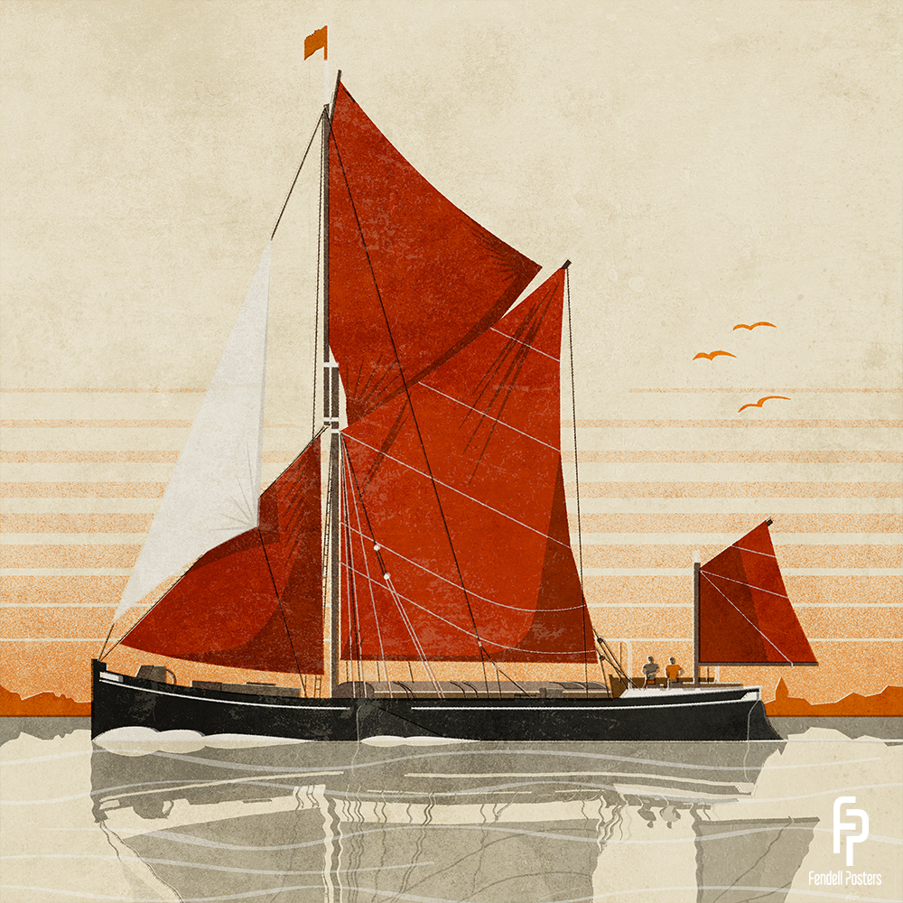 Thames Sailing Barge by Neil Fendell