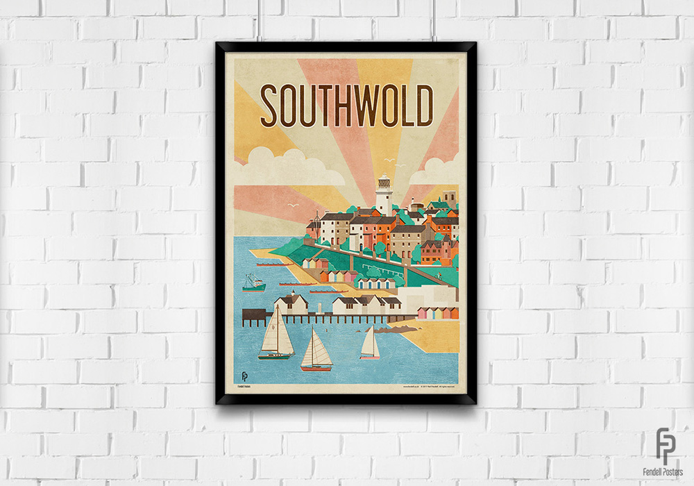 Southwold A2 Framed Poster