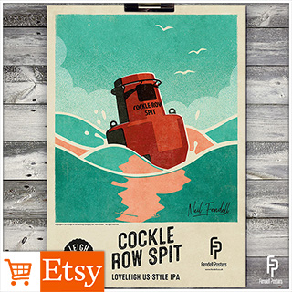 Leigh-on-Sea Brewery - Cockle Row Spit A2 & A4 Poster