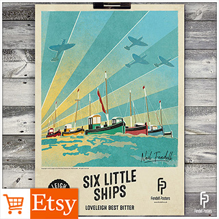 Leigh-on-Sea Brewery - Six Little Ships A2 & A4 Poster