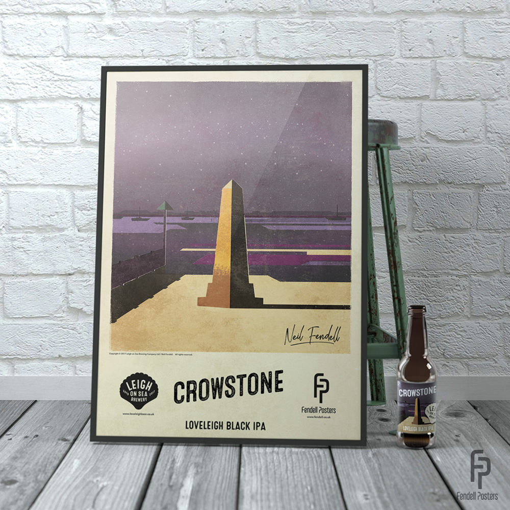 Leigh-on-Sea Brewery - Crowstone A2 Framed Poster