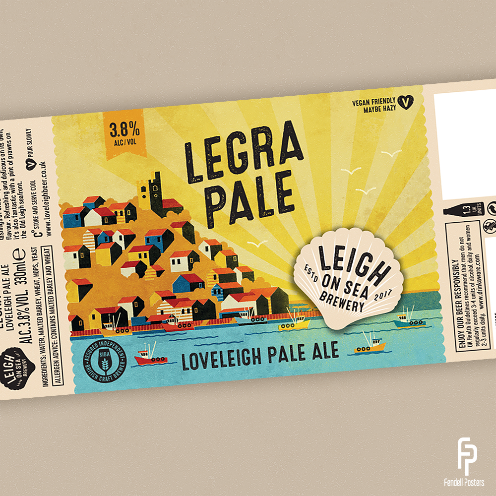 Leigh-on-Sea Brewery - Legra Pale Bottle Label Artwork