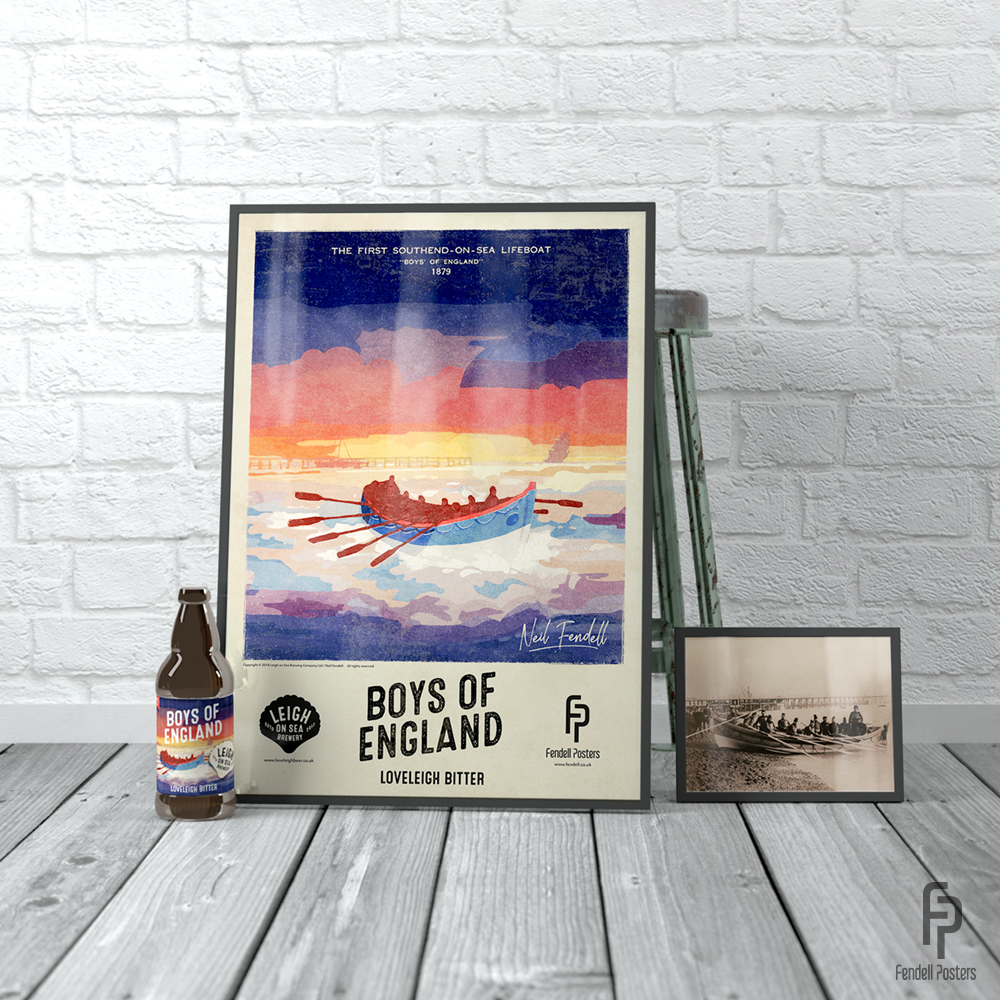 Leigh-on-Sea Brewery - Boys of Essex A2 Framed Poster