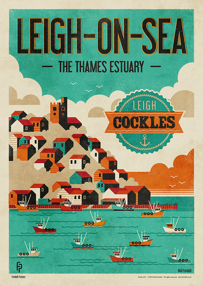 Leigh-on-Sea - Leigh Cockles Poster by Neil Fendell