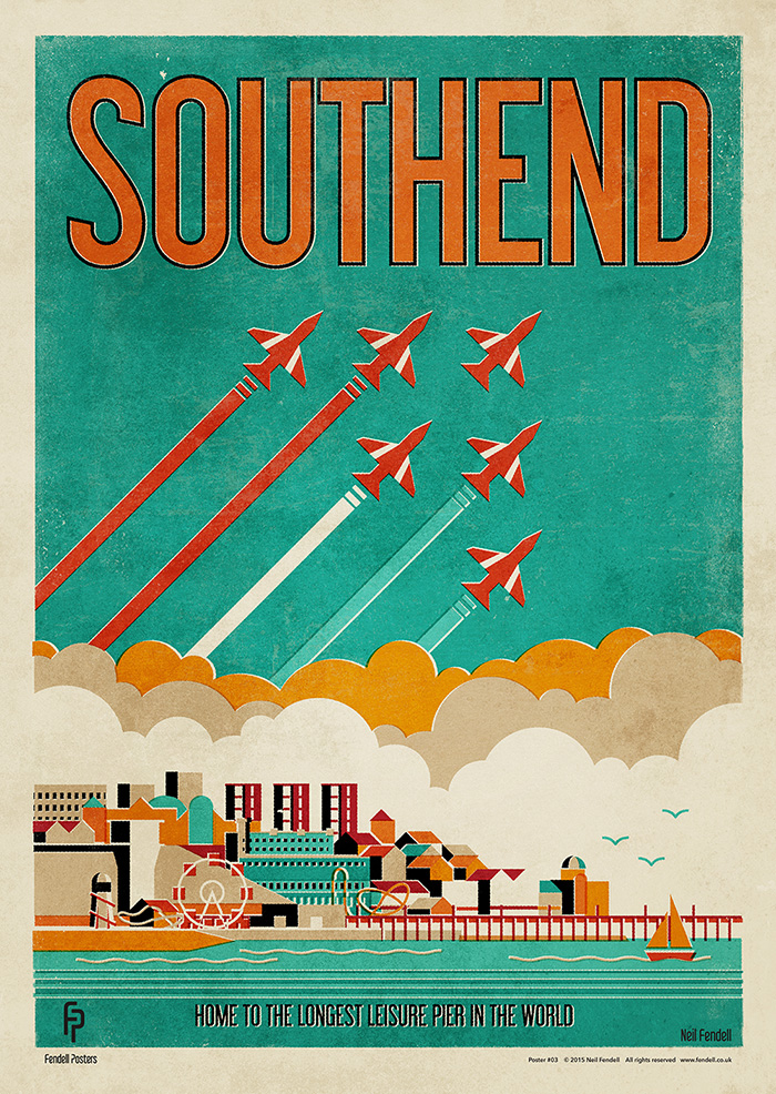 Southend on Sea, Essex. Poster by Neil Fendell