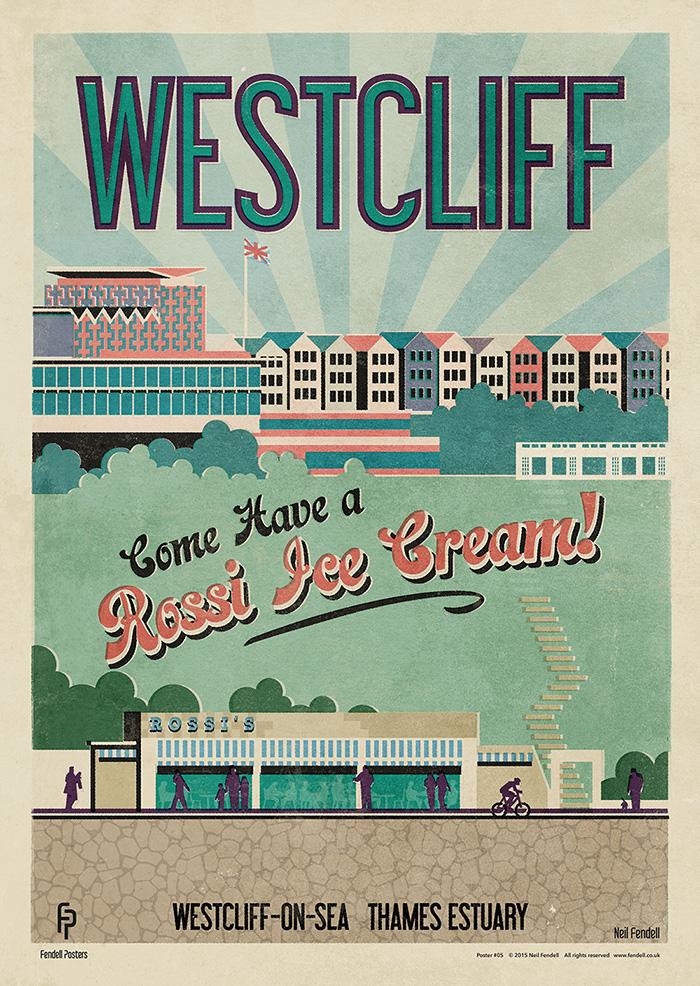 Westcliff on Sea Poster by Neil Fendell