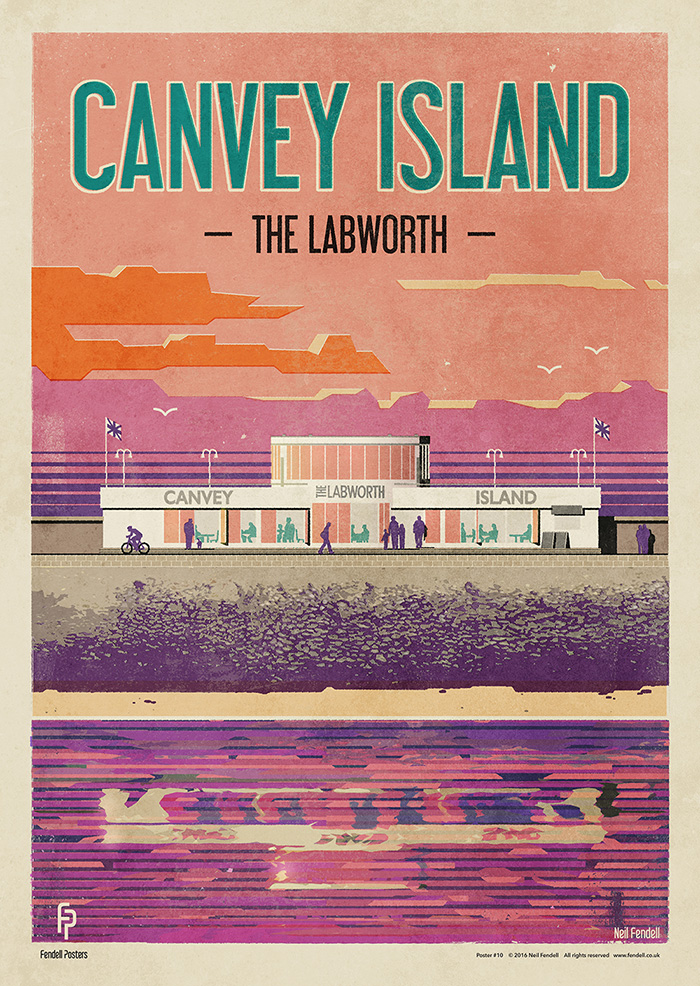 Canvey Island Labworth Poster by Neil Fendell