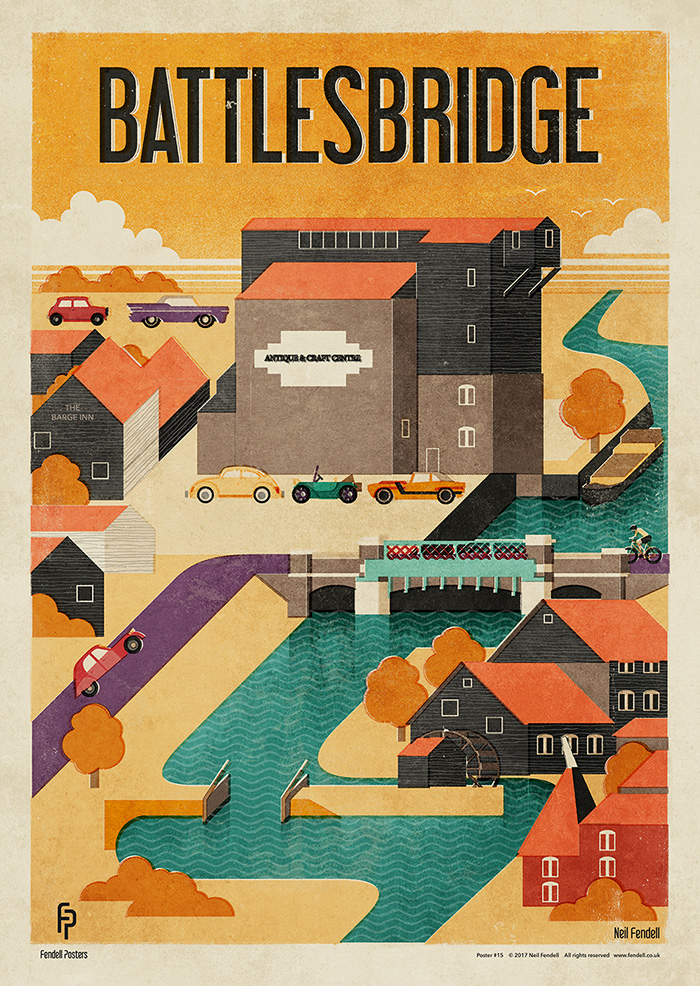 Battlesbridge Poster Artwork by Neil Fendell