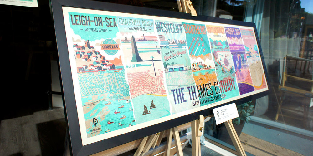 Thames Estuary Special Edition Poster at Puddle & Goose, Leigh-on-Sea
