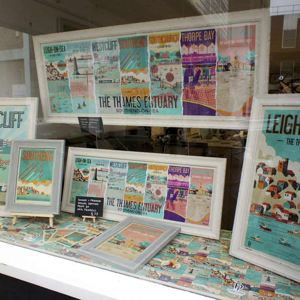 Thames Estuary framed poster at Frame-It Southend