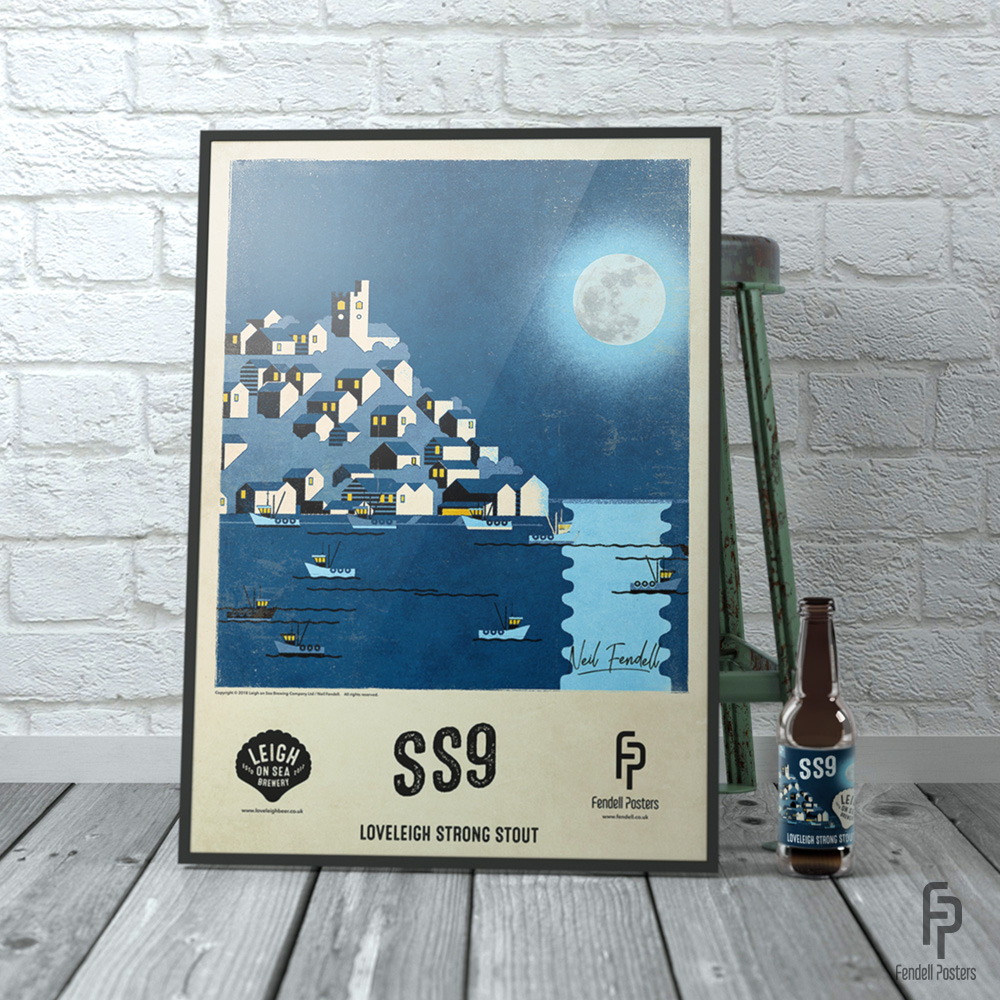 Leigh-on-Sea Brewery A2 Framed SS9 Poster by Neil Fendell