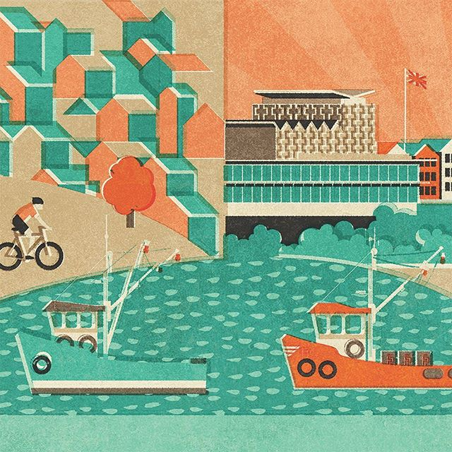 Part of my new poster mashup specially designed for... well, hopefully all will be revealed soon.  #southendcliffspavillion #leighcockleboats #posterbikedude #fendellposters #collage