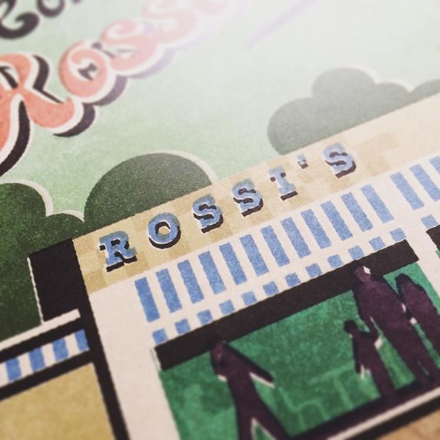 Rossi Ice Cream. From my #westcliffonsea poster. #fendellposters #southendonsea #rossiicecream