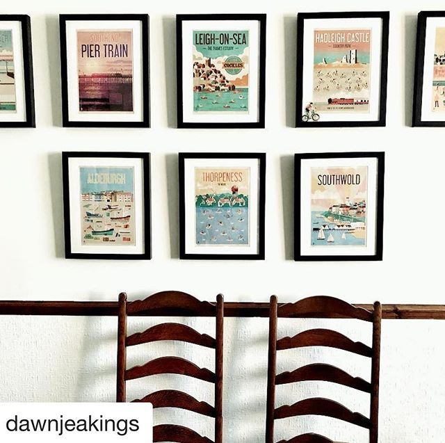 Thanks Dawn for sharing your set of posters. They look fab the way you've framed them. Love it! . #Repost @dawnjeakings with @get_repost ・・・ One of my promises to myself for 2019 was to start a full cleansing process both internal & external and discovering @mariekondo has helped no end! These gorgeous @neilfendell posters of places we love in and around #Essex & #Suffolk are at last in position. . #fendellposters