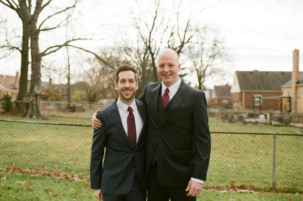 Lucas and Kate's wedding in Cincinnati. F100. Fuji 400H