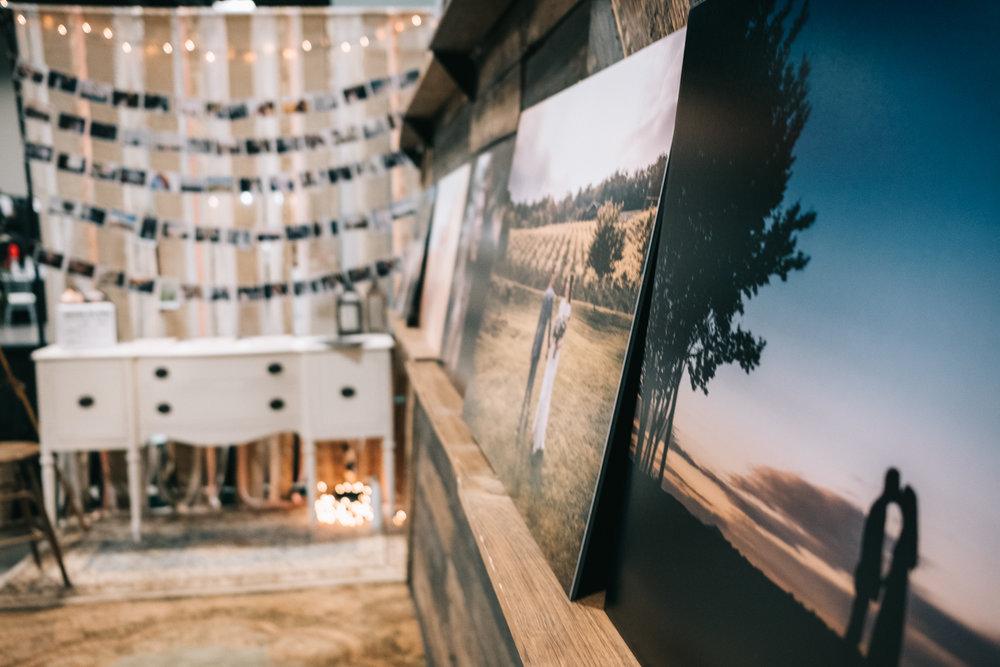 Bridal show exhibit large photo prints