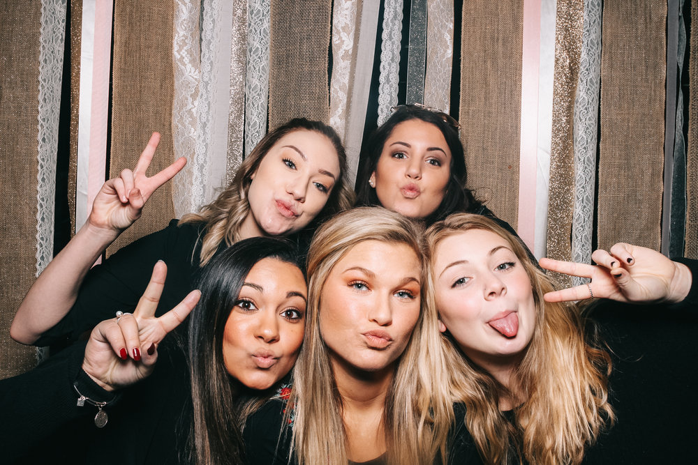 washington dc photo booth of future bride and her bridesmaids