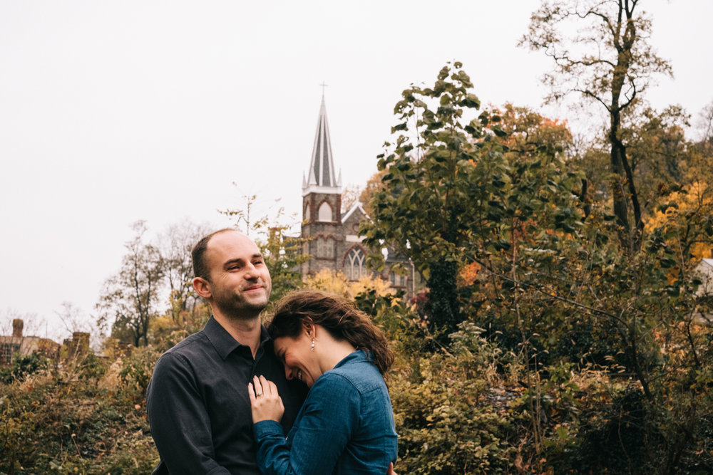 st peter's catholic church harpers ferry engagement photo
