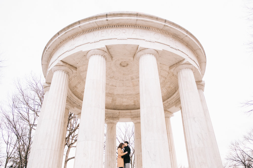 dc war memorial engagement portrait