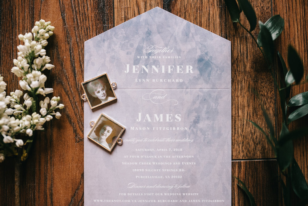 shadow creek wedding stationary details