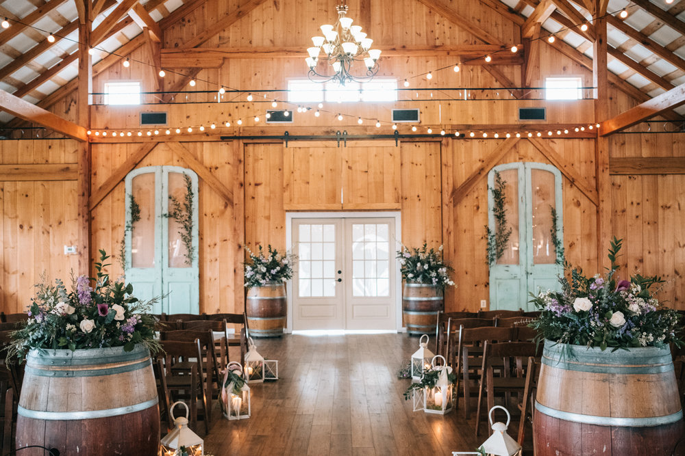 shadow creek indoor wedding setup by dragonfly events