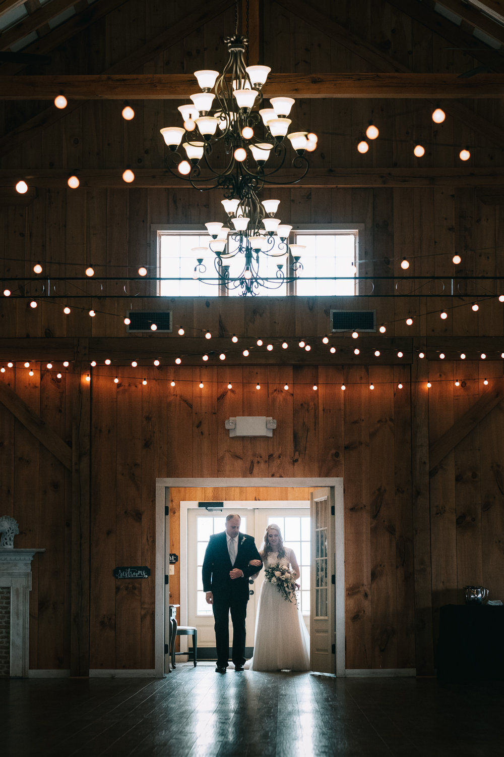 shadow creek purcelleville bridal entrance indoor wedding