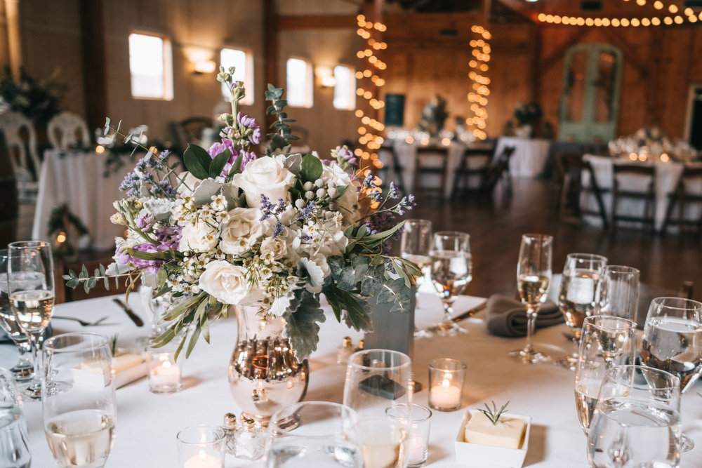 northern virginia barn wedding reception table design