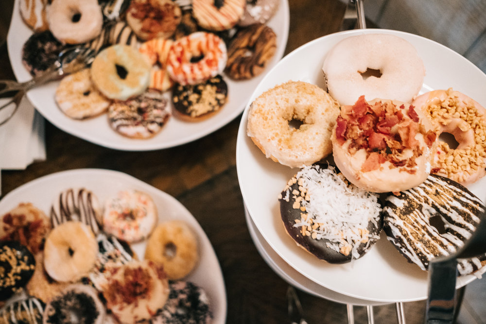 duck donuts wedding display shadow creek weddings