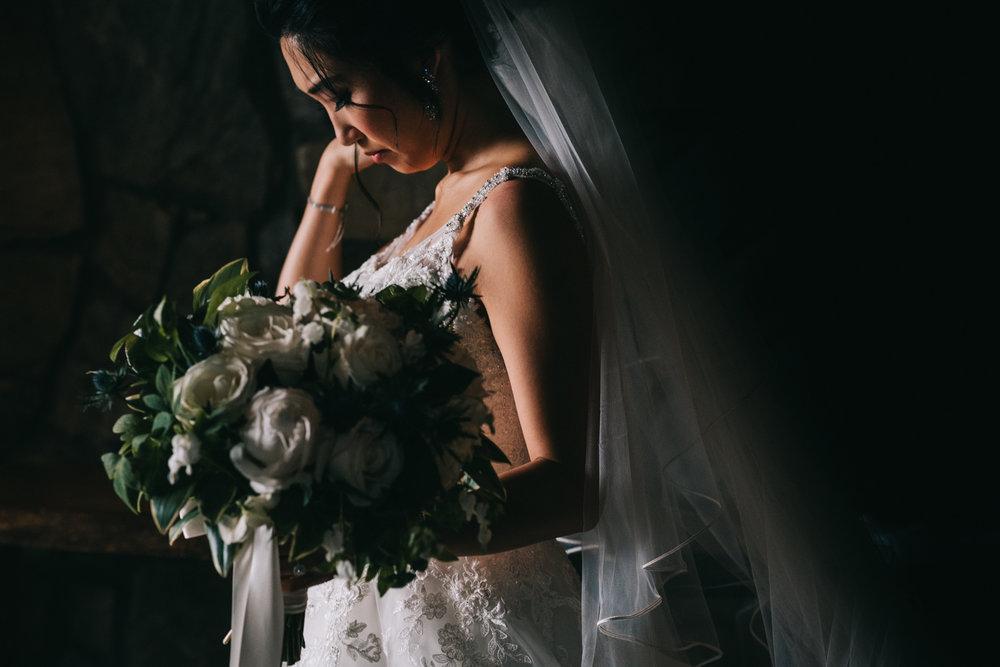 blue valley winery cellar wedding bridal