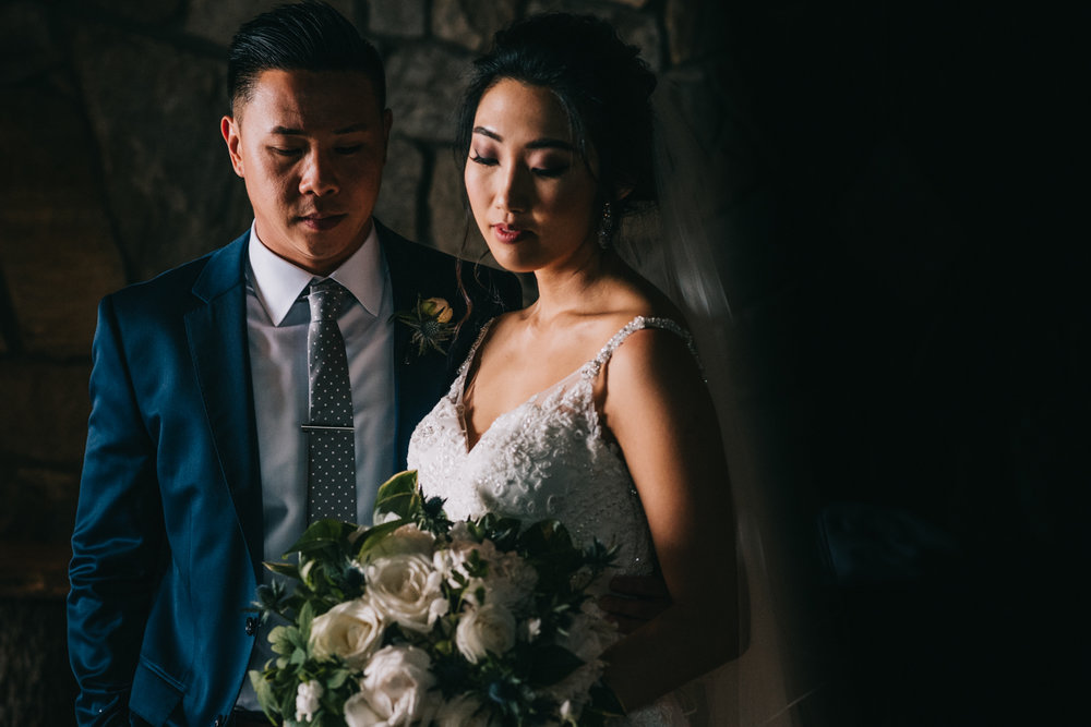 dark and moody blue valley winery cellar portrait