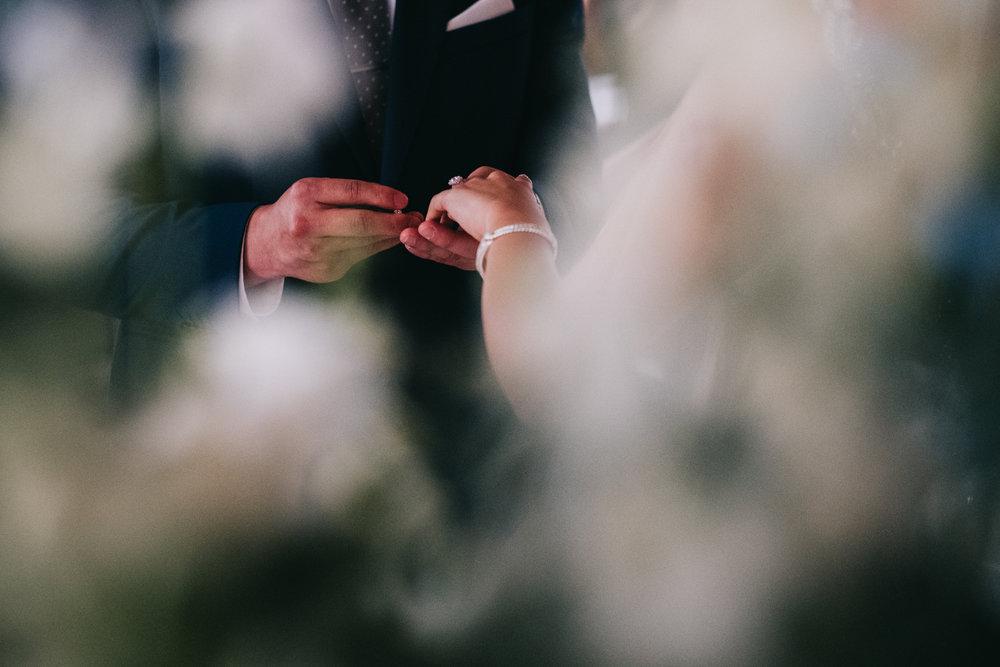 exchange of rings virginia wedding