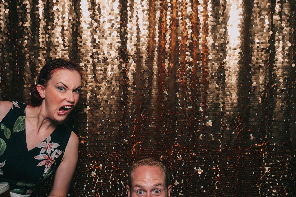 Open air hilarious pose photo booth Baltimore wedding