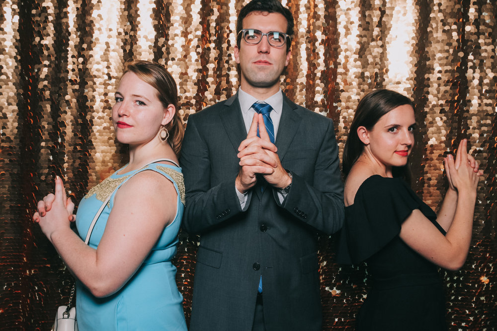 Secret agent pose Baltimore wedding photo booth