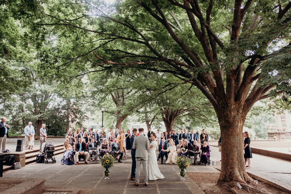 Meridian Hill Park dc wedding ceremony