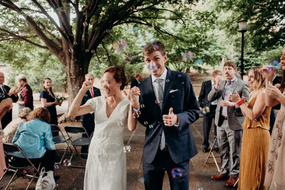 dc park wedding bubble exit
