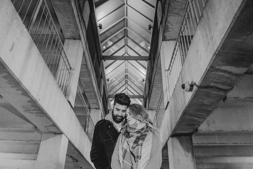 Leesburg couple portraits making parking garages look awesome