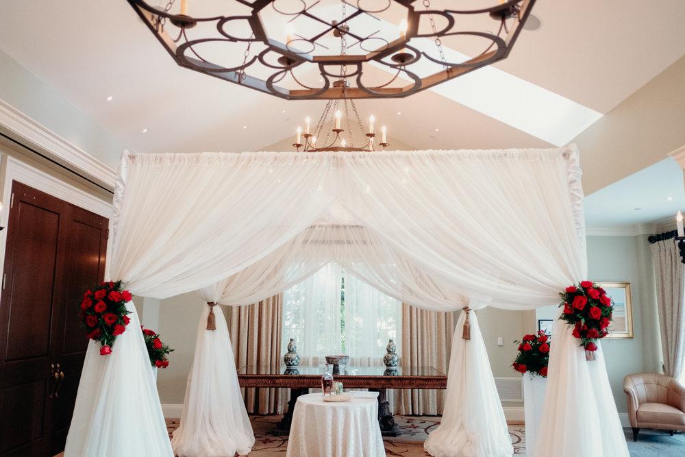 Salamander Resort indoor wedding ceremony chuppah
