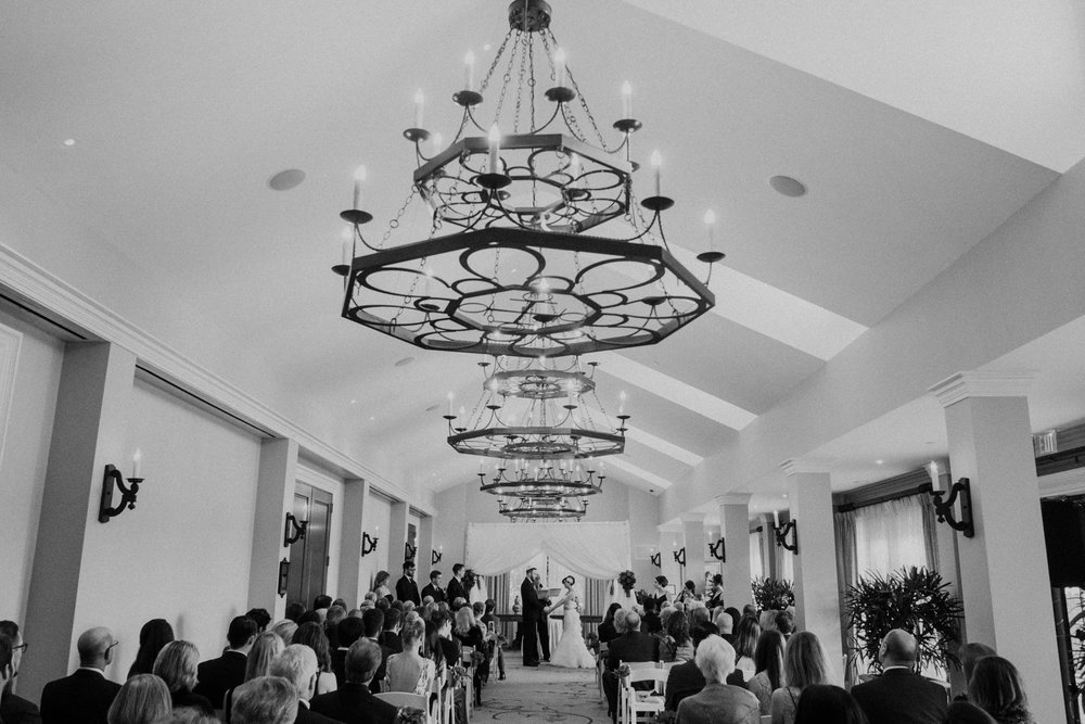 jewish wedding ceremony indoors at salamander resort and spa