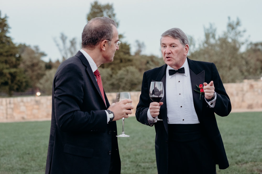 guests mingle during virginia wedding