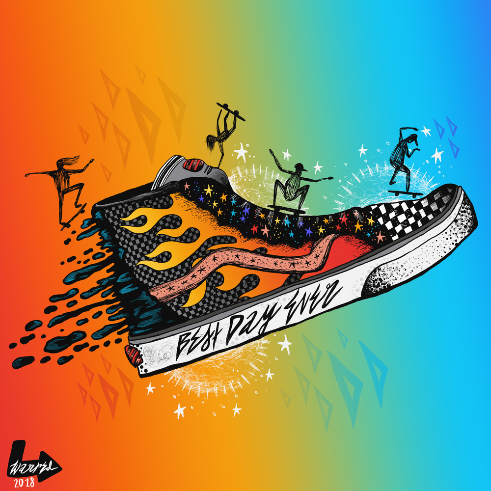 SK8-Hi (illustration + enamel pin)